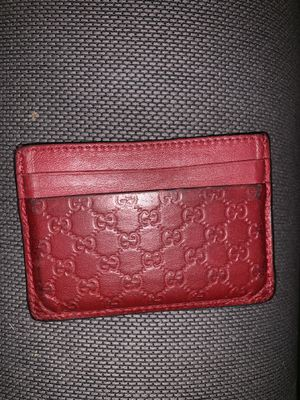 Gucci guccissma card holder and wallet red for Sale in Chicago, IL