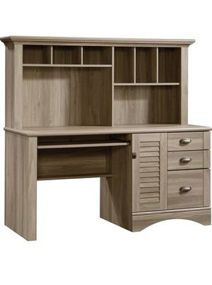 Sauder® Harbor View Collection Computer Desk With Hutch, Salt Oakland for Sale in San Diego, CA