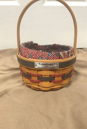1997 inaugural longaberger basket for Sale in Providence, KY