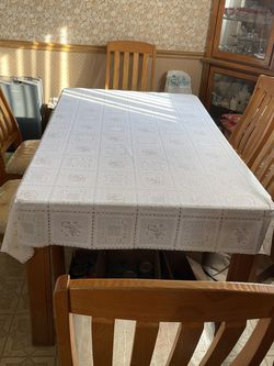 Wood Color Dining Table With 6 Chairs for Sale in Warren,  MI
