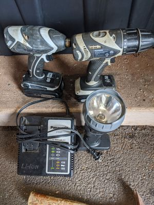 Panasonic Impact, Drill, Light, Charger for Sale in Pearl City, HI