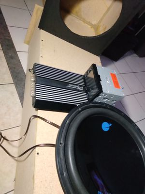 """15"""" sub 1000 W amp Pioneer BT touch screen for Sale in Las Vegas, NV"""