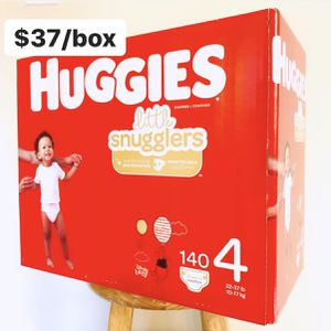 Size 4 (22-37 lbs) Huggies LS (140 baby diapers) for Sale in Anaheim, CA
