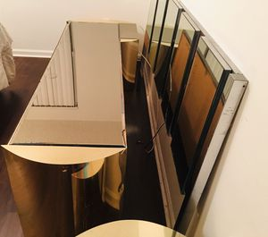 Mid century modern vintage Ello mirrored bedroom set. for Sale in West Palm Beach, FL