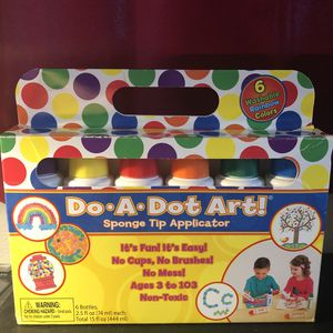 Do A Dot Art! Markers 6-Pack Rainbow Washable Paint Markers, The Original Dot Marker for Sale in Seattle, WA