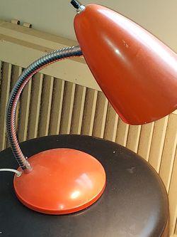 Vintage Gooseneck Orange Desk Lamp for Sale in Sykesville,  MD