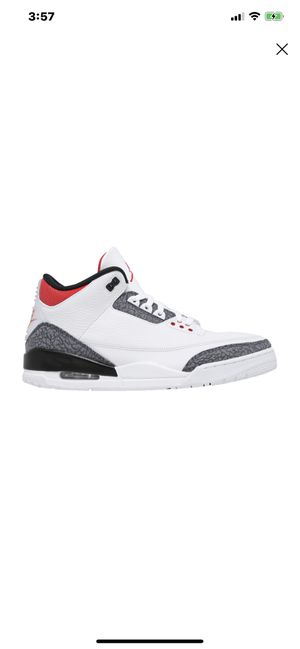 Air Jordan 3 Retro Denim Fire Red Size 12 for Sale in San Fernando, CA