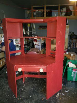 Red corner desk for Sale in Burleson, TX