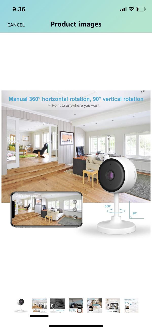 Littlelf Indoor Home Security Camera, 1080P WiFi Camera with Night Vision, 2 Way Audio, Motion Detection, Plug-in Smart Camera for Pet Elder Baby Mon
