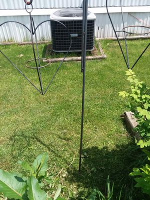 Black Heart shaped cast iron plant holder for Sale in Lancaster, OH