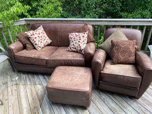 Loveseat & chair w ottoman for Sale in Fairfax, VA