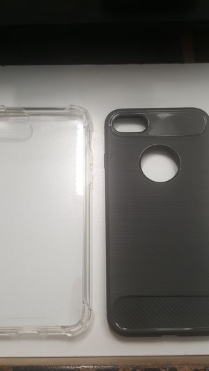 """2 cases for iphone 7/8 4.7"""" not plus 1clear,1grayblack new 7firm shiping only for Sale in Phoenix, AZ"""