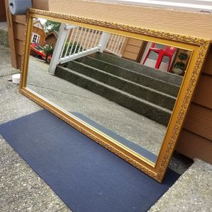 Full-length Large Mirror Antique Gold Heavy for Sale in Everett, WA