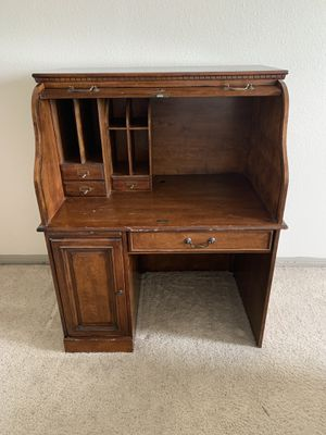 Solid Wood Secretary Desk for Sale in Houston, TX