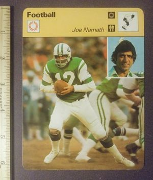 1977 Sportscaster Joe Namath New York Jets Quarterback Sport Photo Large Oversized Football Card HTF Collectible Vintage Italy NFL for Sale in Salem, OH