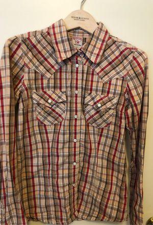 Woman true religion plaid shirt size small 🤎🧡 for Sale in Sacramento, CA
