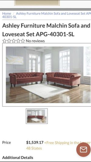 Ashly furniture love seat only swipe for pic for Sale in Oak Lawn, IL
