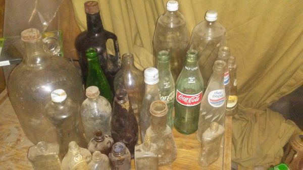 Unique and old bottles collection