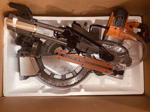 RIDGID 15 Amp Corded 12 in Sliding miter saw for Sale in Azusa, CA