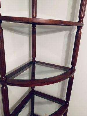 Wood corner glass shelves(2 for $100) for Sale in Alexandria, VA