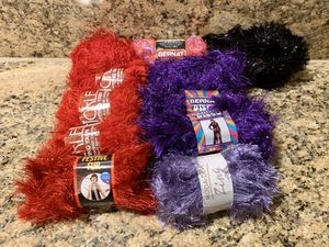 Various skeins of eyelash style yarn (lot of 11) for Sale in Fresno, CA
