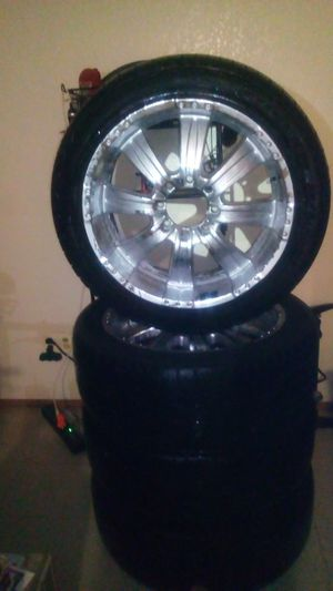 """22"""" inch tires and rims for Sale in Sacramento, CA"""