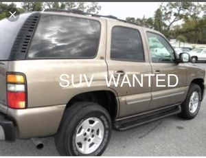 SUV WANTED-Chevy Tahoe, suburban, Ford Expedition, excursion or Toyota sequoia for Sale in Rancho Cucamonga, CA