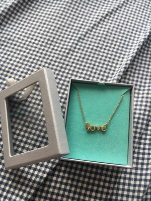 """Gold tone """"LOVE"""" necklace (free with any purchase)! for Sale in Boston, MA"""