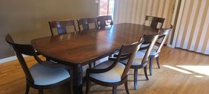 GORGEOUS BLACK CHERRY 9 PIECE EXTENDABLE DINING ROOM TABLE SET for Sale in Lincolnwood, IL