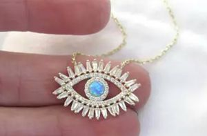 AAA Baguette Cubic Zirconia Turquoise Stone Fashion Eye Necklace for Sale in Wichita, KS