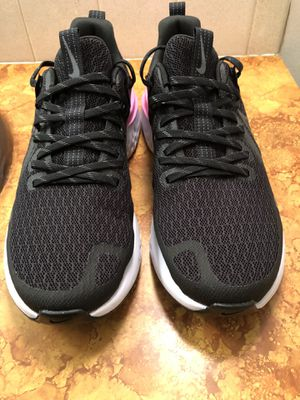 Nike Wmns Legend React 2 Black/Cool Grey-Psychic Pink Running Shoes AT1369-004 Size 10 for Sale in Wichita, KS