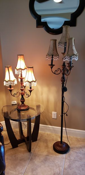 3 PC bronze Victorian lamps for Sale in Bradenton, FL