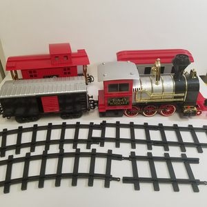 FAO Schwarz red train set with tracks for Sale in Powder Springs, GA
