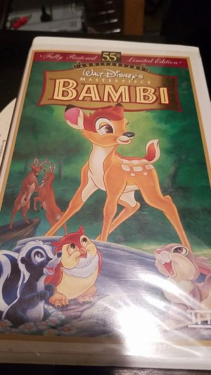 WALT DISNEY'S 55TH LIMITED EDITION BAMBI VHS for Sale in Forest Heights, MD