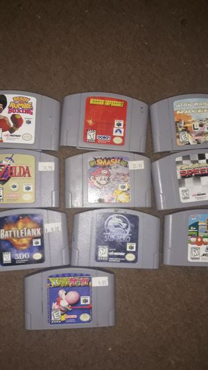 Nintendo 64 games for Sale in Oakley, CA