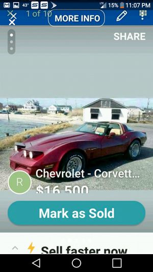 1981 chevy corvette. Only 18600 miles. Mirrored t-tops. Automatic. Very clean excellent. 63one374o369 for Sale in Bay Shore, NY