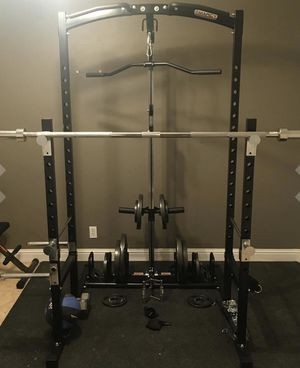 Power Rack/Reverse Pulley System / Squat Rack/Lat Pulldown/Tri-Bic/Pull-up Bar/Multi-Functional/ Adjustable Hight/*Brand NEW* Let's Make A Deal for Sale in Tracy, CA