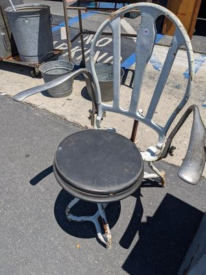 Vintage dental metal chair for Sale in Downey, CA