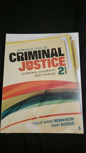 Introduction to Criminal Justice 2nd Edition - Rennison for Sale in Anchorage, AK
