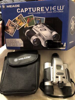 MEADE CAPTUREVIEW binoculars that take pictures for Sale in Cowpens, SC