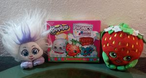 Shopkins phonics 2 plush toys for Sale in Oklahoma City, OK