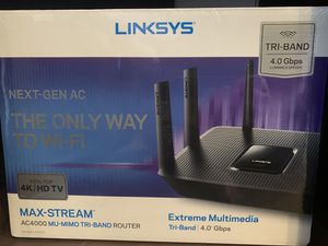 Linksys Max-Stream AC4000 Tri-Band WiFi Router (EA9300) for Sale in Englewood, CO