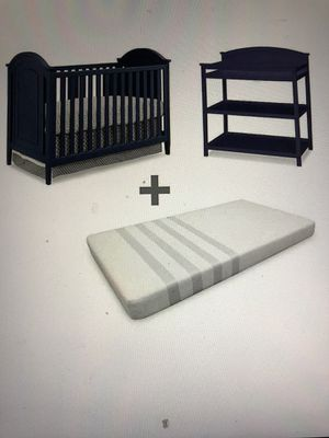 Crib + changing table+mattress for Sale in San Jose, CA