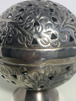 vintage metal globe art deco incense or candle holder with holes for Sale in Fort Myers,  FL
