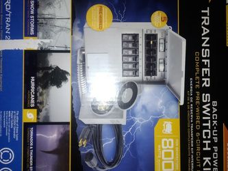 Transfer Switch Kit for Generator - $250 for Sale in Tacoma,  WA