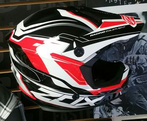 Motocross Helmet or dirt bike helmets Red Black White New Zox Rush All Rider Gear for Sale in San Diego, CA