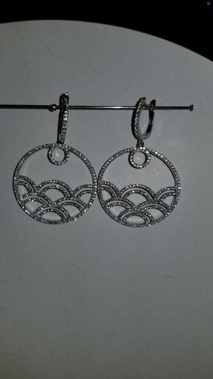 Sterling Silver Diamond secure post earrings for Sale in Sacramento, CA