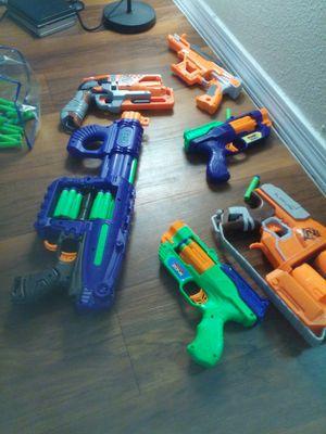 NERF /DART ZONE Quatro Blast FlipFury Guns for Sale in Tempe, AZ
