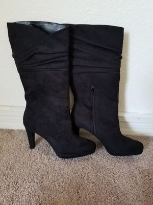 Black Boots with Heel for Sale in Tampa, FL