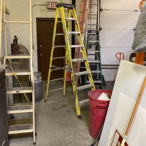 8 foot A-frame ladder feather light brand for Sale in Farmingdale, NY